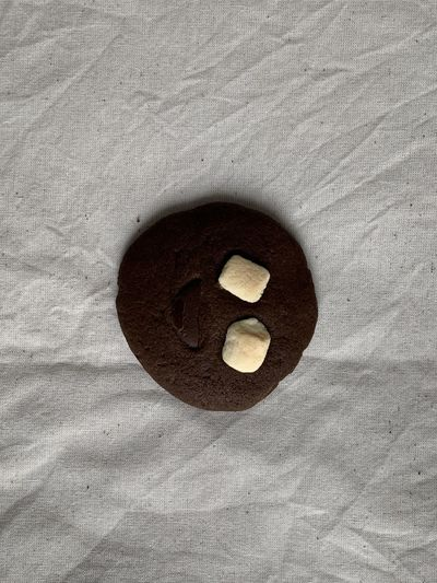 High angle view of bread on wooden surface