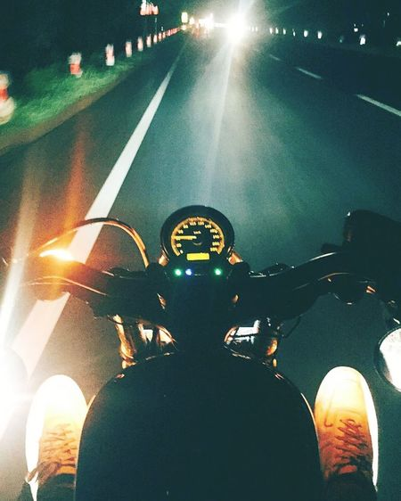 Illuminated Night One Man Only People Men One Person Only Men Outdoors Adult Adults Only Hometown- Nightshot Night Out Multi-colored Lights Hd48 Harley Davidson Be. Ready. Perspectives On Nature EyeEmNewHere
