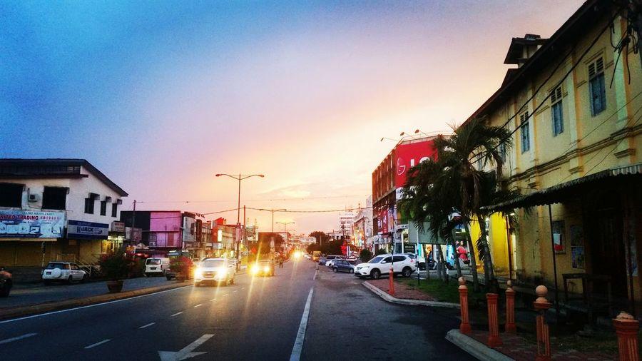 Nostagic City Sunset Street Malaysia Cautious Pahang Mentakab Varon