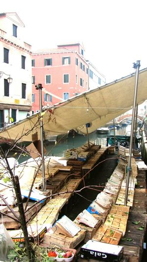 Floating Market Empty Market Foodless Urban Lifestyle Venice, Italy
