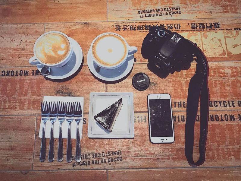 Coffee with friends Visual Feast Still Life Wireless Technology Portable Information Device Table Communication Coffee - Drink Mobile Phone No People Cafe Food Technology Smart Phone Indoors  Drink Food And Drink Directly Above Refreshment Day Close-up Freshness EyeEmNewHere Urbanphotography Photography Cafe Latte