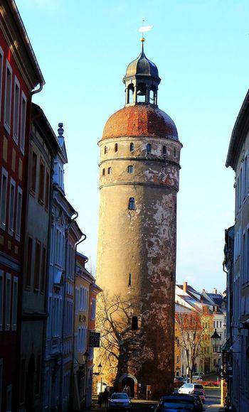 Altstadt Architecture Building Exterior Built Structure Clock Tower Denkmal Nikoleiturm No People Outdoors Sachsen Schlesien Sky Tower Turm