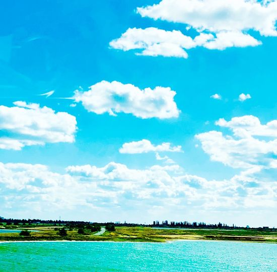 Cloud - Sky Sky Day Nature Water Scenics - Nature Plant No People Land Outdoors Tranquility Blue Landscape Field Growth Idyllic Beauty In Nature Tranquil Scene Architecture