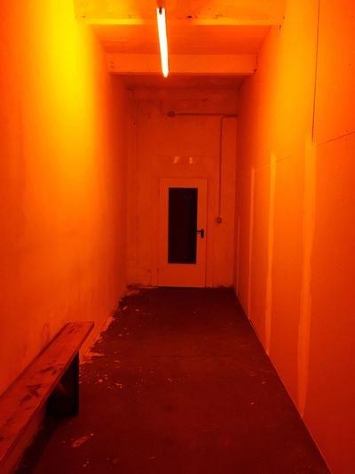 First Eyeem Photo Neon Lights Neon Berlin Modern Contrasts Urban Urban Geometry Orange Color Tunnel Vision Shapes Shapes And Forms