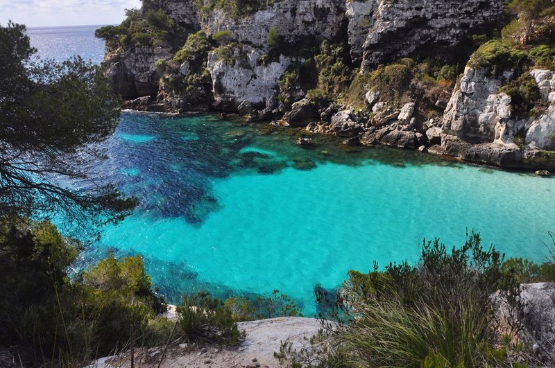 Nobody Turquoise Bay Spanish SPAIN Balearic Islands Menorca Rock - Object Nature Water Sea Beauty In Nature Scenics Tranquility Day No People