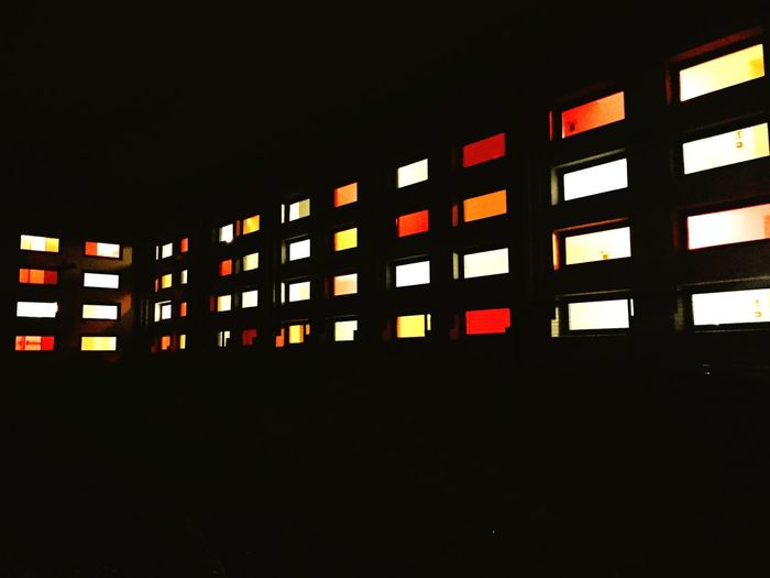 Amazing Architecture Windows Shining in the Dark Urban Geometry Color Explosion Color Colour New Building