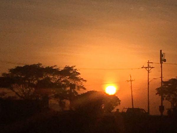 Sunset Sunset Sun Afternoon Sky Red Orange