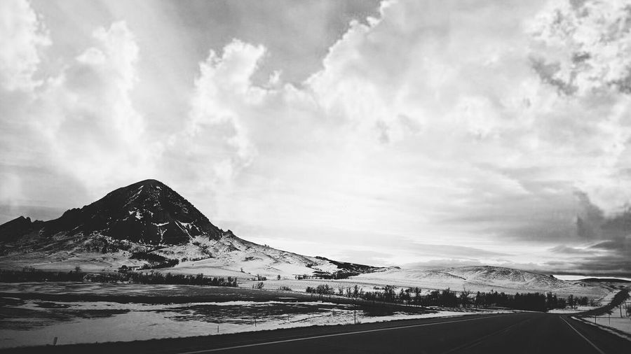 Landscape Cloud - Sky Outdoors Mountain Snow Blackand No People Sky Day South Dakota Bear Butte Blackandwhite Black & White Blackandwhitelandcape