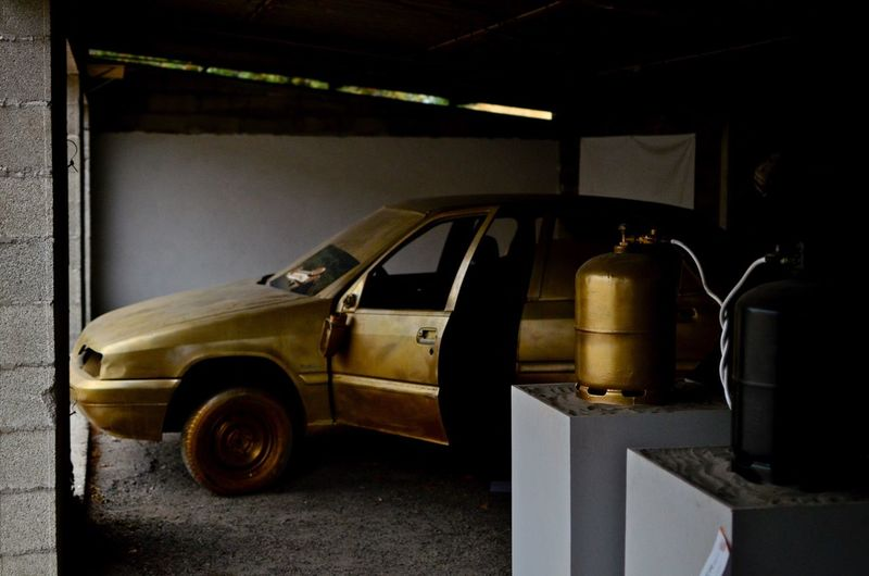 Ground Control Arles Arles, France Garage Photography Garage Auto Gold Colored Goldcar Land Vehicle Old-fashioned Day No People EyeEmNewHere