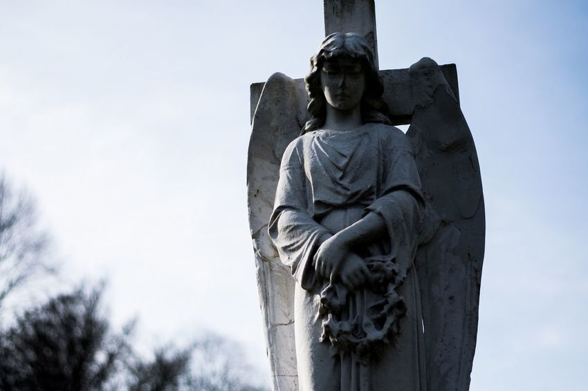 Cemetery Angel Graveyard Gravestone Wombwell