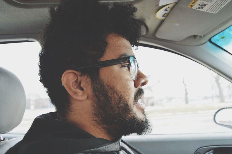 Car EyeEm Selects Car Interior Vehicle Interior Transportation Land Vehicle Mode Of Transport Headshot Young Adult Close-up Eyeglasses  Day