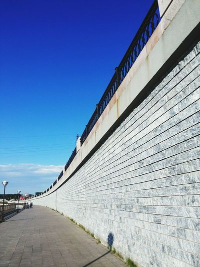 EyeEmNewHere Sky Day Building Exterior Architecture Clear Sky Summer Walking Wall