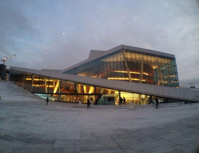 Opernhaus Oslo, kurz vor dem Weihnachtskonzert - Solistenes Julekonsert
