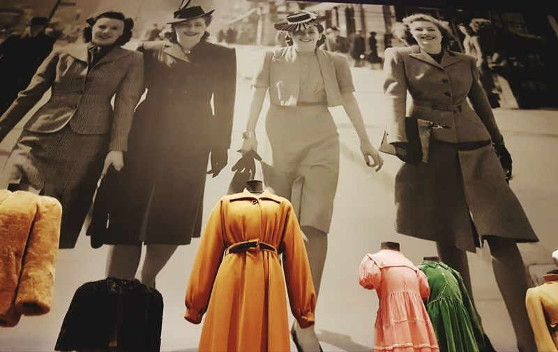 Low Angle View Retrostyle Vintage Look Vintage❤ Vintage Moments Vintage Fashion Vintagestyle Imperial War Museum Mannequins Human Representation Wartime Fashion Full Length Backgrounds Fashion Clothing Mannequin