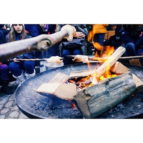 Baking bread over an open fire, Christmas markets, Basel. Travel Travelphotography Ricohgr Vscocam latergram instatravel