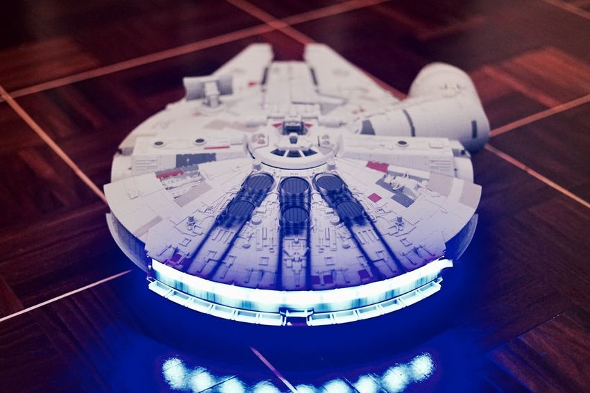 Toy Toy Photography High Angle View Close-up Star Wars Millenium Falcon Wood