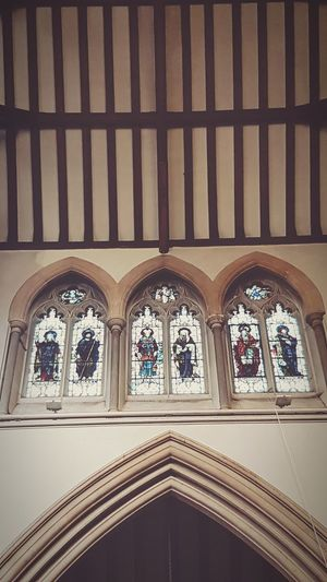 Window No People Religion Place Of Worship Architecture Arch Indoors  Symbolic  St Martin's Church Stonework Multi Colored Stained Glass