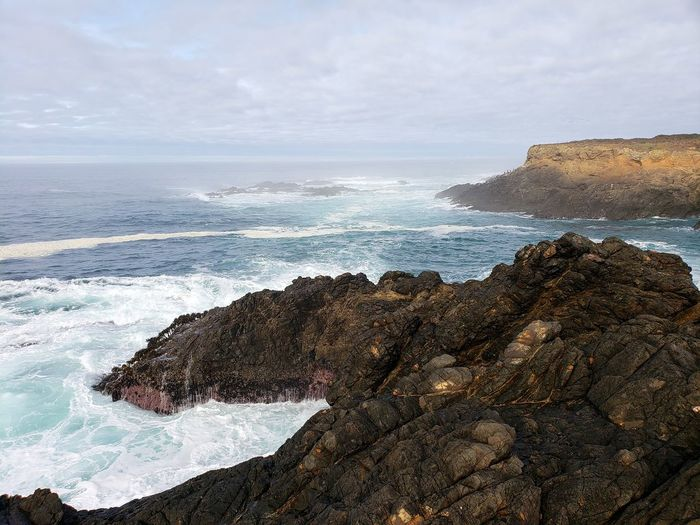 Mendocino Headlands State Park, Ca Water Wave Sea Power In Nature Motion Crash Lava