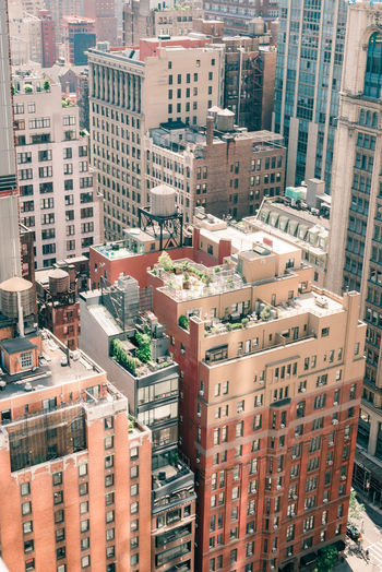 New york cityscape rooftops