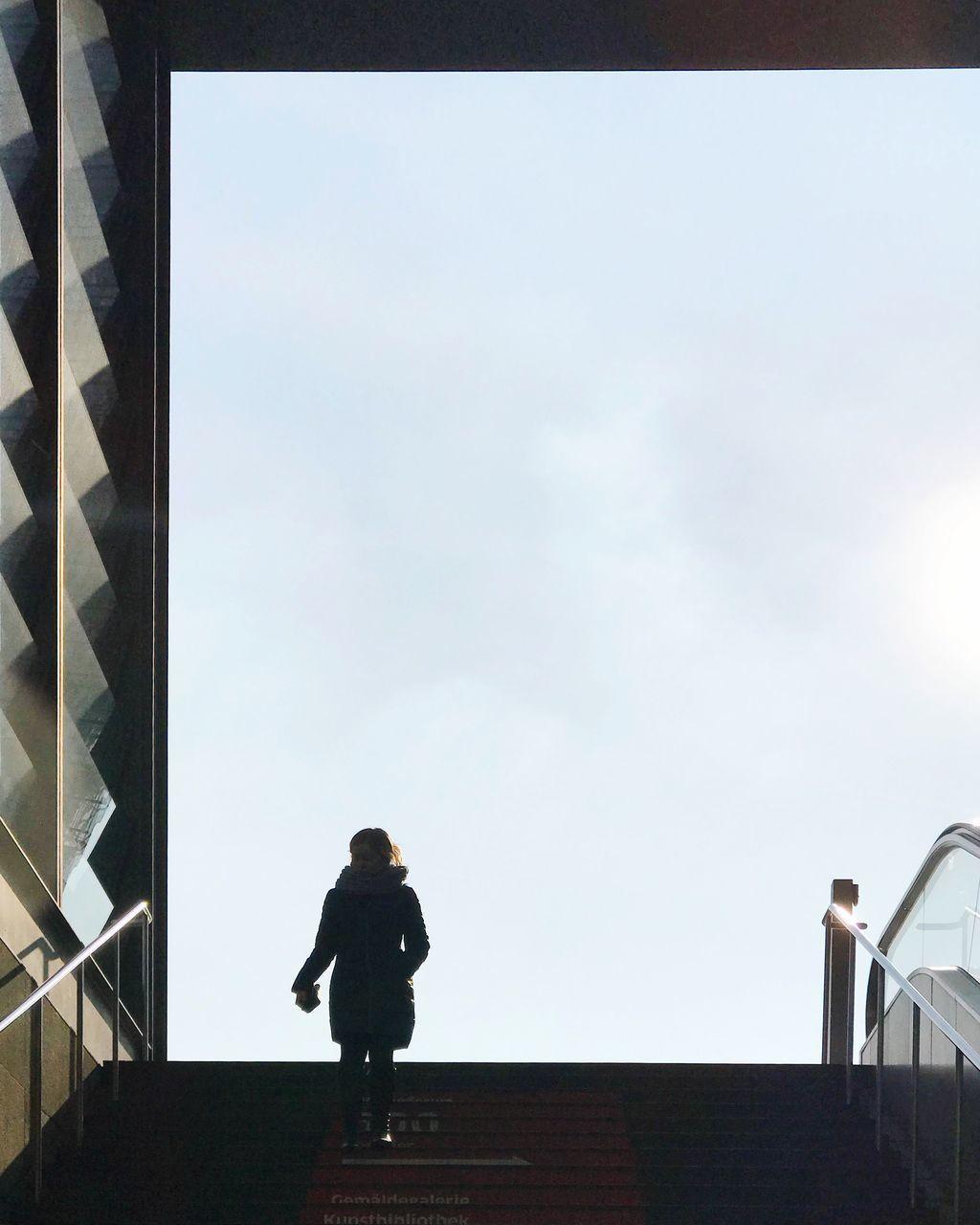 FULL LENGTH OF MAN WALKING AGAINST SKY