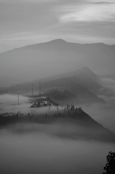 The edge of the Tengger caldera inside which Mt. Bromo is situated Tengger Caldera Bromo Cemoro Lawang Volcano Sunrise Surreal INDONESIA