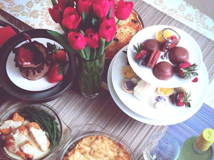 VALENTINES DINNER❤️ Cooked Dinner Preparing Food Heartwarming Valentine's Day  Hightea Dessert Porn