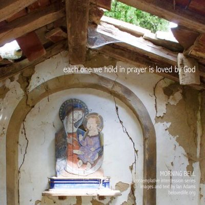 No21 in series 'in our prayers (contemplative intercession)' Stillness Shrine Cortona Contemplation Prayer Madonnaandchild Derelict Abandoned Loved