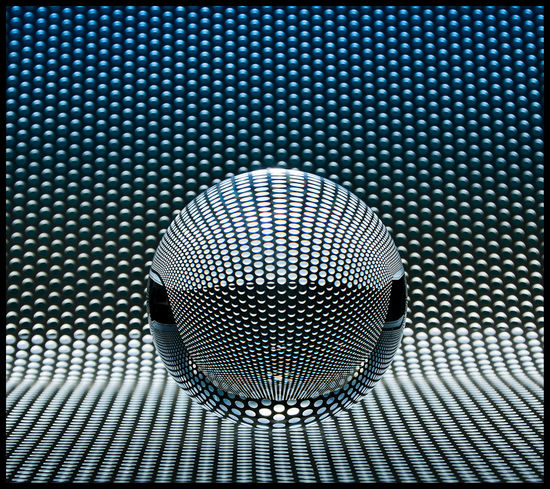 Abstract Backgrounds Ball Beleuchtung Circle Design Detail Full Frame Geometrisch Geometry High Angle View Ideas Indoors  Kugel Lochblech Metal Part Of Pattern Single Object Still Life Table