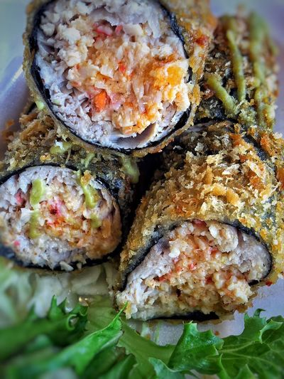 Nori Wrapped Crab Stuffed Ahi Roll Food Yummy In My Tummy Yummy♡ Food Photography Photos Food Photography Yummy In My Tummy!😋 Yummy Food Yummy Delicious Ahi It's What's For Lunch