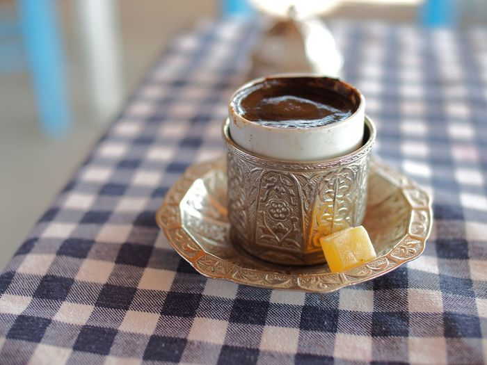 Turkish coffee on table