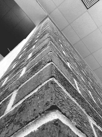 Brick Wall B&w Worms Eye