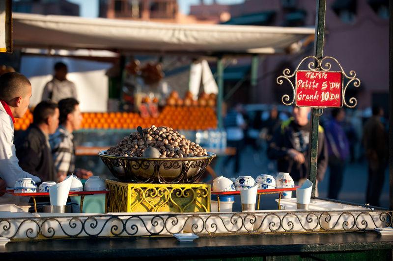 Pistachio merchant at a market