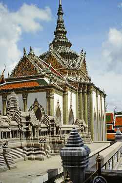 the Royal Palace - Bangkok, Thailand Architecture Building Exterior Built Structure Cloud - Sky Day History No People Outdoors Place Of Worship Religion Royal Palace Bangkok Sky Spirituality The World Before Bin Laden Travel Destinations