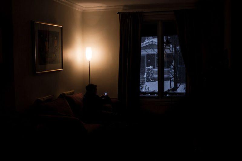 Curtains in the dark