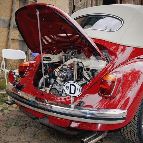 Red Beauty VW Beetle K äfer Cabrio vintage oldtimer beauty motor engine old alt car auto vsco vscocam vscogram vscoism vscolover vscogram