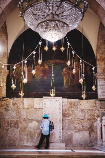 culture around the world !!! church of the holy sepulchre at Jerusalem Hanging Real People One Person Rear View Built Structure Indoors  Full Length Standing Architecture Men Illuminated Day People Focus On Foreground Celebration Streetphotography Hat Women Portrait Outdoors Cap Statue Architecture Burning Building Exterior