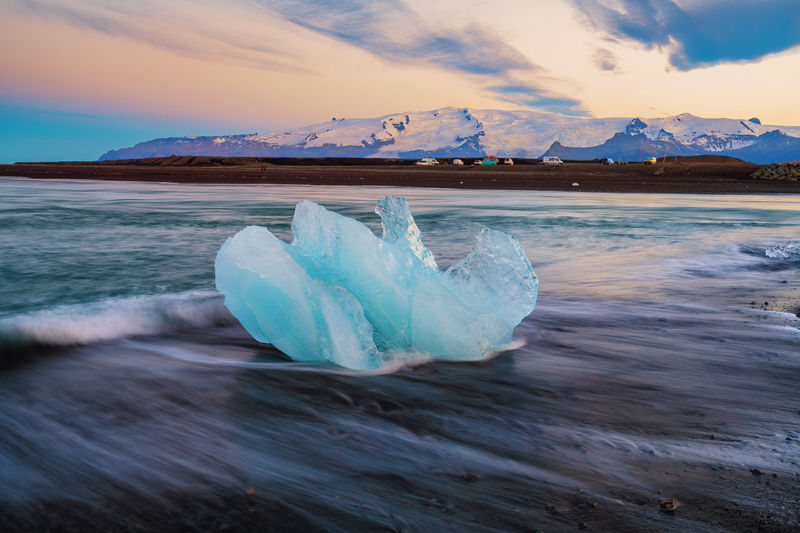 Close-Up Of Icebergs On Jokulsarlon Glacial Lagoon