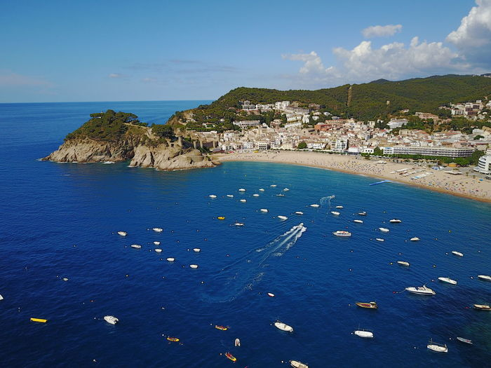 Aerial Shot Blue Sea Catalunya Aerial View Architecture Beach Beauty In Nature Blue Building Exterior Built Structure City Day High Angle View Horizon Over Water Nature Nautical Vessel No People Outdoors Rock - Object Scenics Sea Seascape Sky Water Waterfront