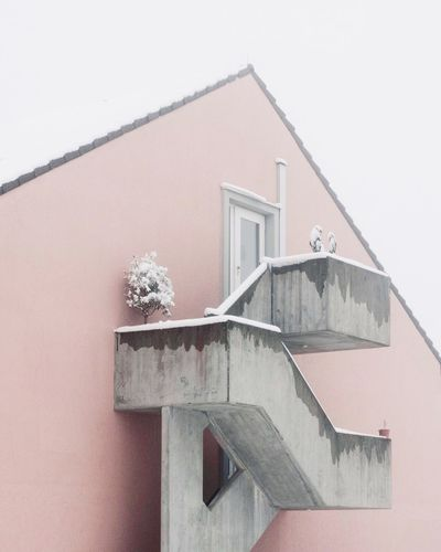 Snow Winter Fog Architecture Built Structure Building Exterior No People Window Day Outdoors Low Angle View Close-up Nature