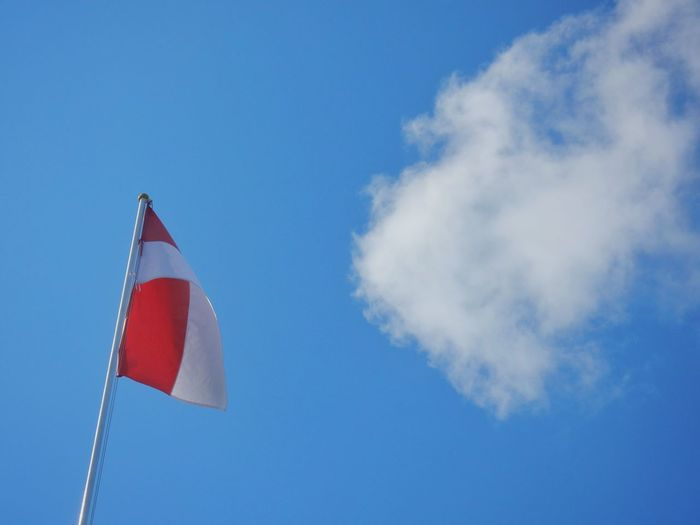Flag INDONESIA Indonesian Flag Sky Clouds Clouds And Sky Blue Color Colour Of Life