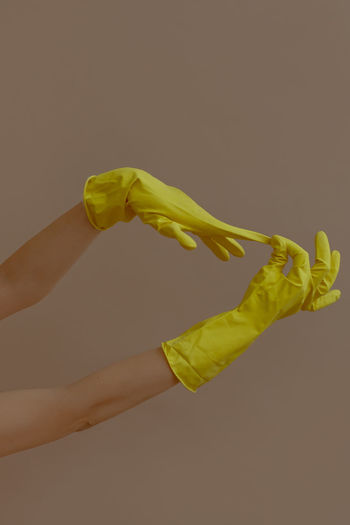 Spring cleaning Yellow Human Hand Clean Cleaning Cleaning Equipment Cleaner Washing Washing Up Glove Washing Up Gloves Gloved Hand Yellow Gloves