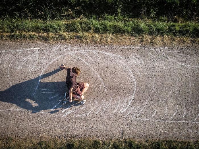 Text on field during rainy season