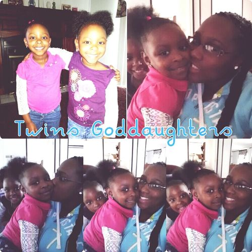 my twins goddaughters who I love dearly