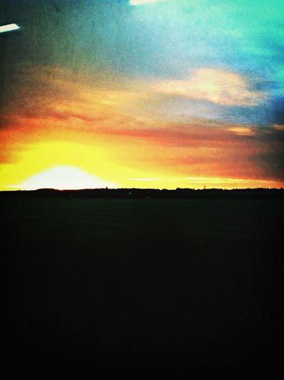 Sunset over landscape