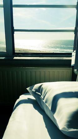 Zandvoort Beach ⚓⛵sea Loveit♡ Good Morning World! Hotel View Bed Window Window View Beach Bedroom View  Place Of Heart