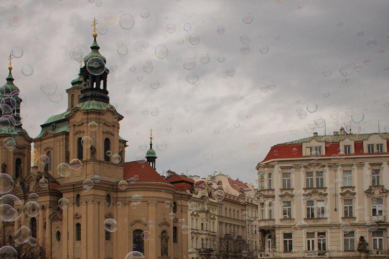 Architecture Built Structure Building Exterior No People History Sky Outdoors Day City Prague Bubbles Prague Czech Republic