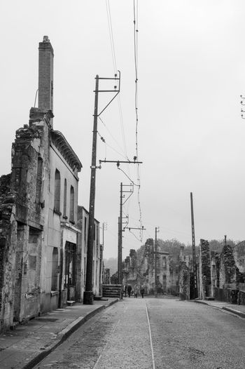 Oradour Street Remember Ww2 Sky Outdoors No People Architecture Day City