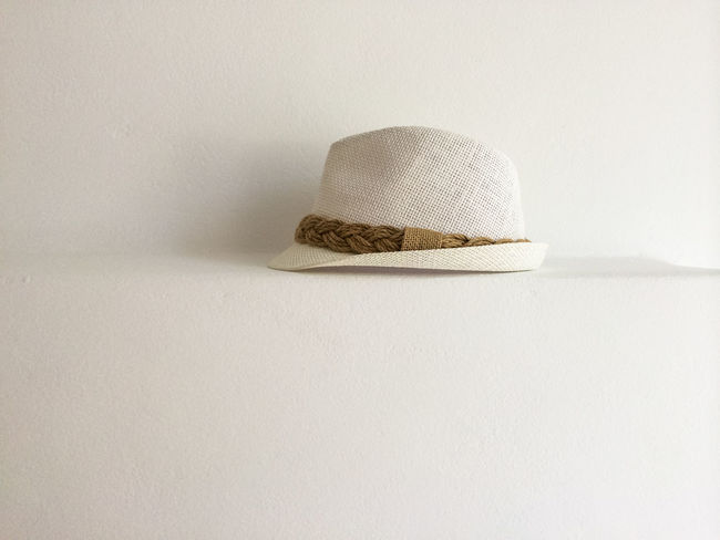 Close-up Copy Space Day Hat Indoors  No People Shadows Shelf Simple Still Life Studio Shot White Background