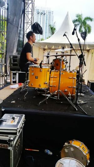Onstage my set drum perform with Wrecklless That's Me Live Music Onstage Music Is My Life Rocknroll