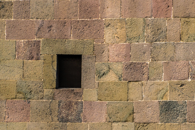Backgrounds Full Frame Architecture Building Exterior Built Structure Close-up Brick Wall Brick Wall - Building Feature Wall Geometric Shape Stone Wall Worn Out Textured  Arched Square Shape Rectangle Geometry Rough Seamless Pattern